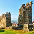 Ruins of ancient walls in Thessaloniki Royalty Free Stock Photo