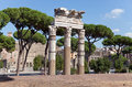 Ruins of an antique temple of Venus.Italy. Rome. Stock Photo