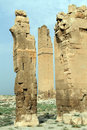 Ruins of arch and minaret in harran turkey Royalty Free Stock Images