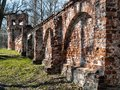 Ruins of the architectural complex Fedorovsky town in Tsarskoye Royalty Free Stock Photo