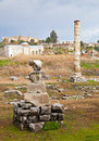 Ruins of Artemision in Ephesus Royalty Free Stock Photography