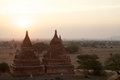 Ruins of Bagan at dawn, Myanmar Royalty Free Stock Photo