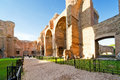 The ruins of the Baths of Caracalla in Rome Stock Images