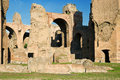 The ruins of the Baths of Caracalla in Rome, Italy Stock Image