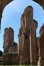 The ruins of the baths of caracalla in rome italy Stock Photo