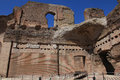 The ruins of the baths of caracalla in rome italy Stock Image
