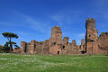 The ruins of the baths of caracalla in rome italy Stock Photography