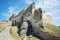 Ruins of Beckov castle, Slovak republic