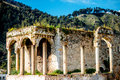Ruins in Berat city Royalty Free Stock Photo