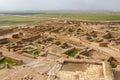 Ruins of the biblical Beersheba, Tel Be& x27;er Sheva Royalty Free Stock Photo