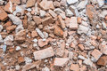 Ruins of brick rubble. Royalty Free Stock Photo