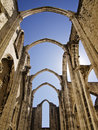 Ruins of the Carmo Church Stock Photos