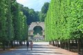 Ruins of carthage schonbrunn vienna austria park alley and roman Royalty Free Stock Images