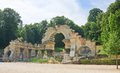 Ruins of carthage schonbrunn vienna austria roman Stock Photos