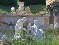 Ruins of carthage schonbrunn vienna austria roman Royalty Free Stock Images
