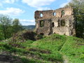 Ruins of castle cimburk in bohemian moravian borders Stock Photos