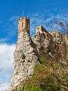 Ruins of the castle Devin located near Bratislava, Slovakia.