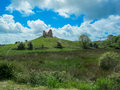Ruins of a castle on a Hill Royalty Free Stock Photo