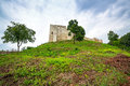 Ruins of the castle in kazimierz dolny at vistula river poland Royalty Free Stock Images