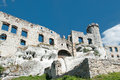 The ruins of the castle a medieval in ogrodzieniec Stock Photos