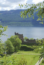 Ruins of castle Urquhart on loch Ness Royalty Free Stock Photography