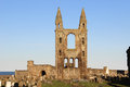 Ruins of cathedral of st andrew st andrews fife view the east tower part the the or at in the kingdom Stock Photography