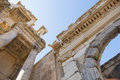 The ruins of celsus library in ephesus turkey Royalty Free Stock Image