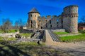 Ruins of cesis castle medieval in german wenden latvia once the most important the livonian order it was the official Royalty Free Stock Images