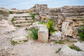 The ruins of chersonesos ancient city Stock Image