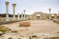 The ruins of chersonesos ancient city hersonissos Royalty Free Stock Photography