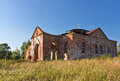 Ruins of the church a russian orthodox russia small salt Stock Photo