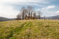 Ruins of a church small orthodox in krywe poland Royalty Free Stock Photos