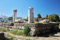 Ruins in the city of Kos Stock Photography