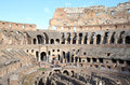 Ruins of the Colosseum in Italian Rome, Lazio Stock Image