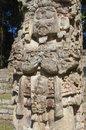 Maya Stela in Copan Royalty Free Stock Photo