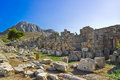 Ruins in corinth greece archaeology background Royalty Free Stock Images
