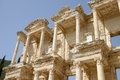 The ruins at ephesus turkey library of celcus in of near kusadasi Royalty Free Stock Images