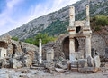 Ruins of ephesus in turkey near ceucuk city Stock Photography