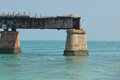 Ruins in the florida keys an old along overseas highway Stock Photos