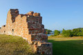Ruins of the fortress bomarsund remains military fortifications in field Stock Photography