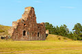 Ruins of the fortress bomarsund remains military fortifications in field Royalty Free Stock Photos
