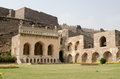 Ruins and gardens of the medieval mogul empire golkonda fort in hyderabad india Royalty Free Stock Photography