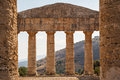 Ruins of the Greek temple in the ancient city of Segesta Royalty Free Stock Photo