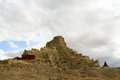 Ruins of guge dynasty in tibet is an ancient kingdom here is the Royalty Free Stock Images