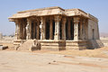 Ruins of hampi india a temple complex in a unesco world heritage site Stock Photo