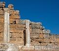 Ruins of Hierapolis,Turkey Royalty Free Stock Photography