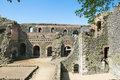 Ruins of imperial castle in duesseldorf roman kaiserpfalz kaiserwerth Royalty Free Stock Photography