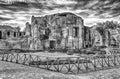 Ruins inside the great baths at villa adriana hadrian s villa roman tivoli italy Royalty Free Stock Images