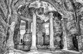 Ruins inside the great baths at villa adriana hadrian s villa roman tivoli italy Stock Photo