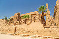 Ruins of karnak temple in luxor egypt ancient architecture Royalty Free Stock Photos
